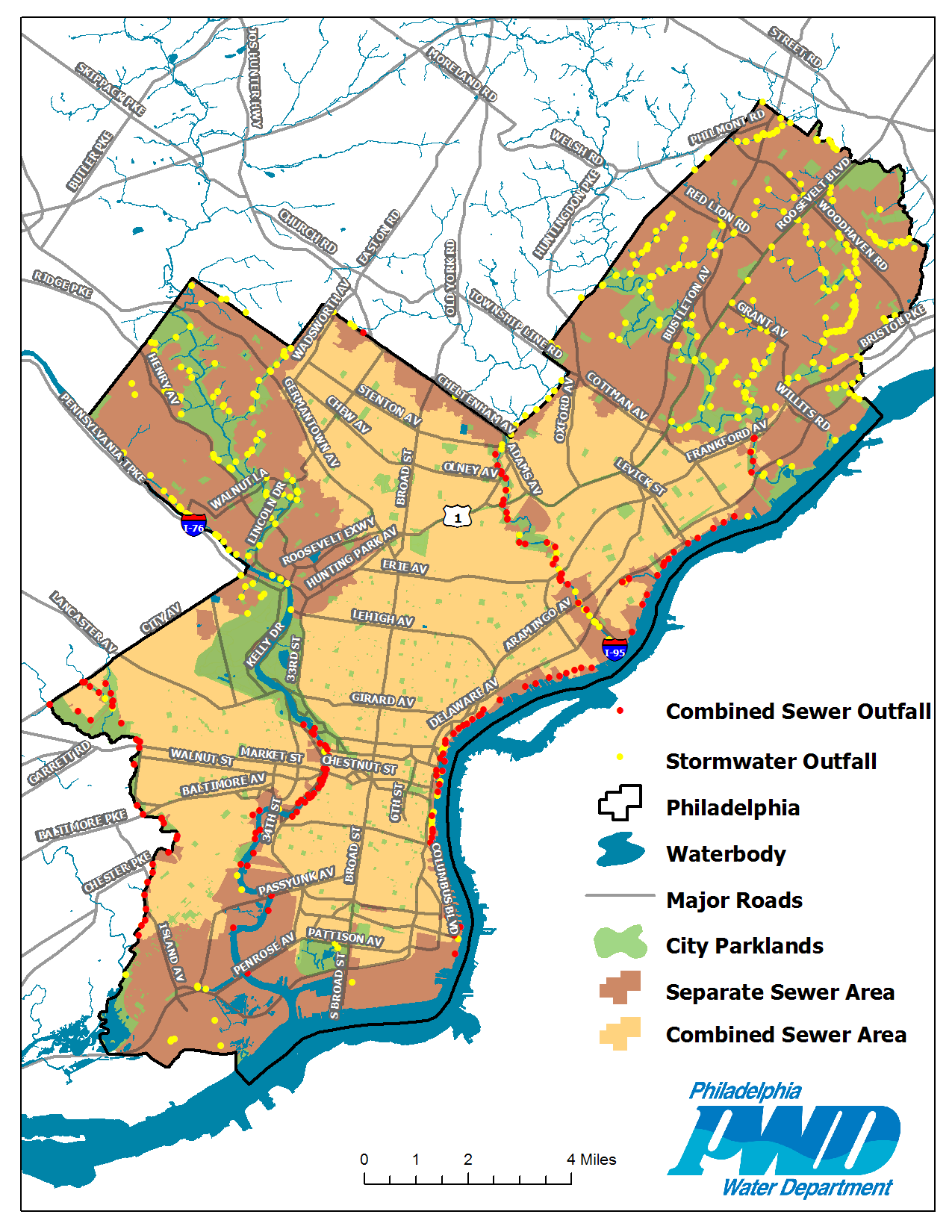 Philadelphia Stormwater Map Downloadable Maps | Philly Watersheds