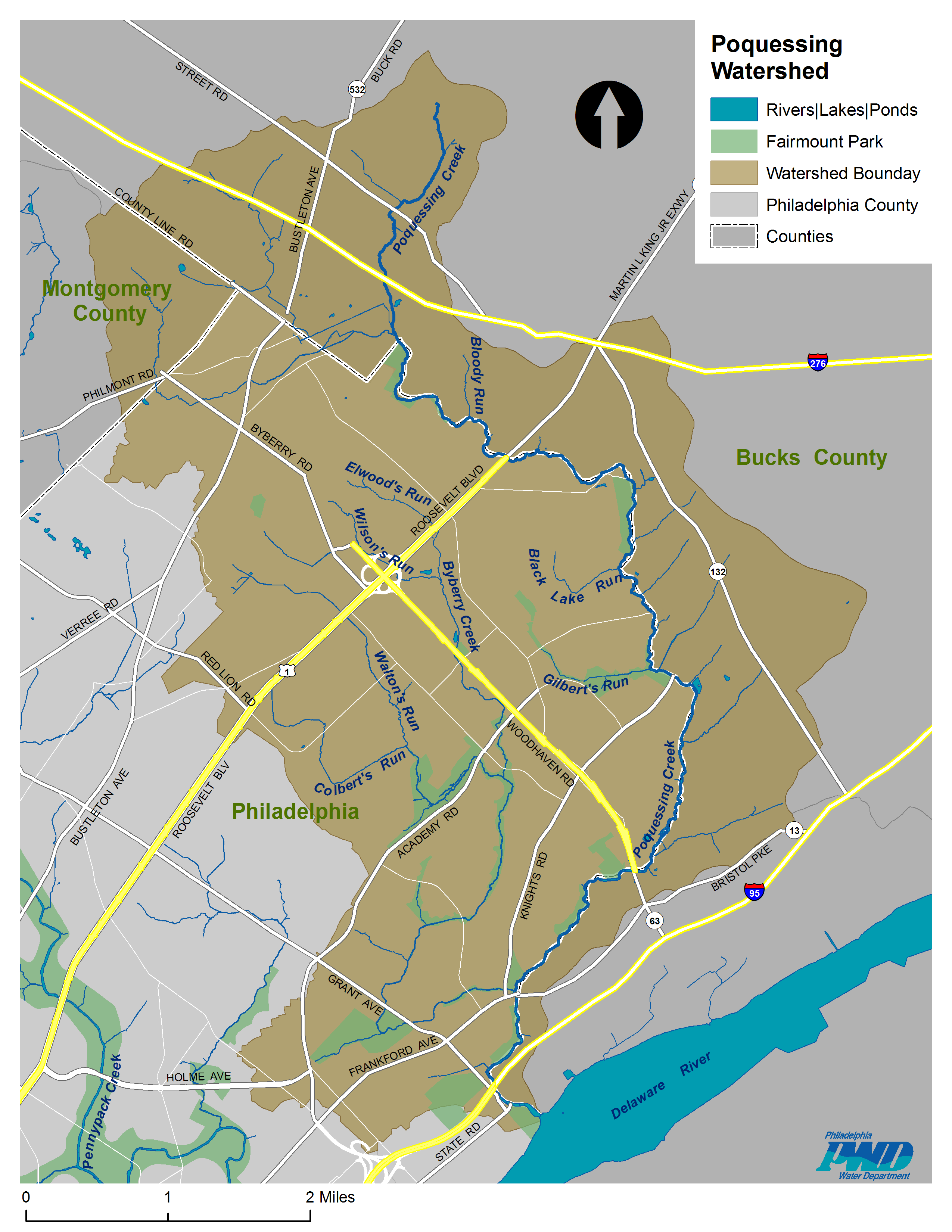pennypack map. pennypack map  watershed alliance of southeastern pennsylvania
