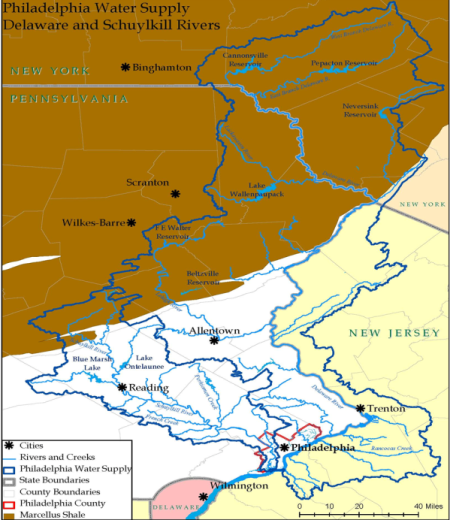 Delaware River Watershed Map Delaware River Watershed