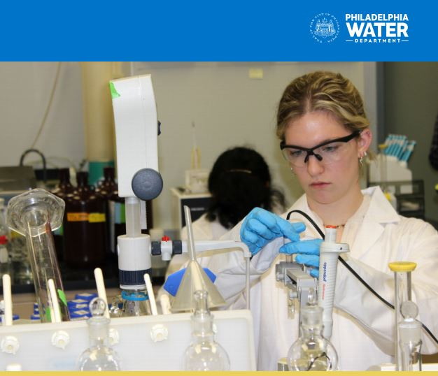 See our latest water quality data at phila.gov/water or request a free copy at 215 685 6300.