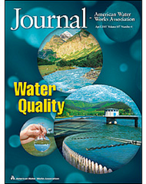 The April cover of the Journal - American Water Works Association. Credit: AWWA