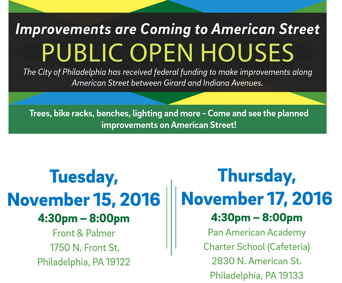 The next open house events will be held in mid-November: