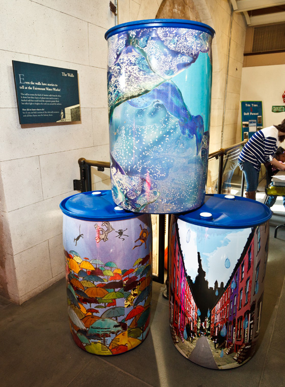 the philadelphia water department is offering rain barrels to local businesses libraries and any faith based sites free of charge for both the barrel and - Decorative Rain Barrels
