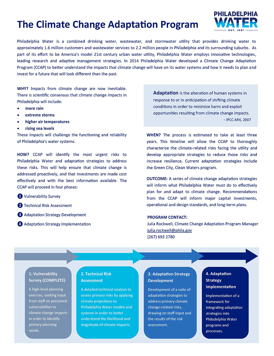 Climate Change Adaptation Program one-pager