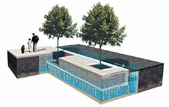 A diagram of a typical street tree designed by Philadelphia Water.
