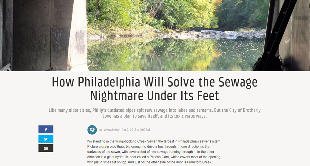 Popular Mechanics looked at our unqiue approach to the stormwater challeges cities across the U.S. are facing. Credit: Popular Mechanics