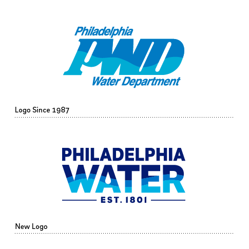Philadelphia Water is rolling out a new look for the first time since 1987.