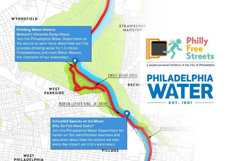 The Philadelphia Water Dept. will have two activity stops on the Philly Free Streets route where you can explore obscure but fascinating parts of our water infrastructure and history.