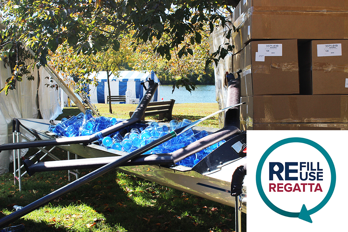 Philadelphia Water and the Head of the Schuylkill Regatta are teaming up to reduce litter and advocate for public drinking water.