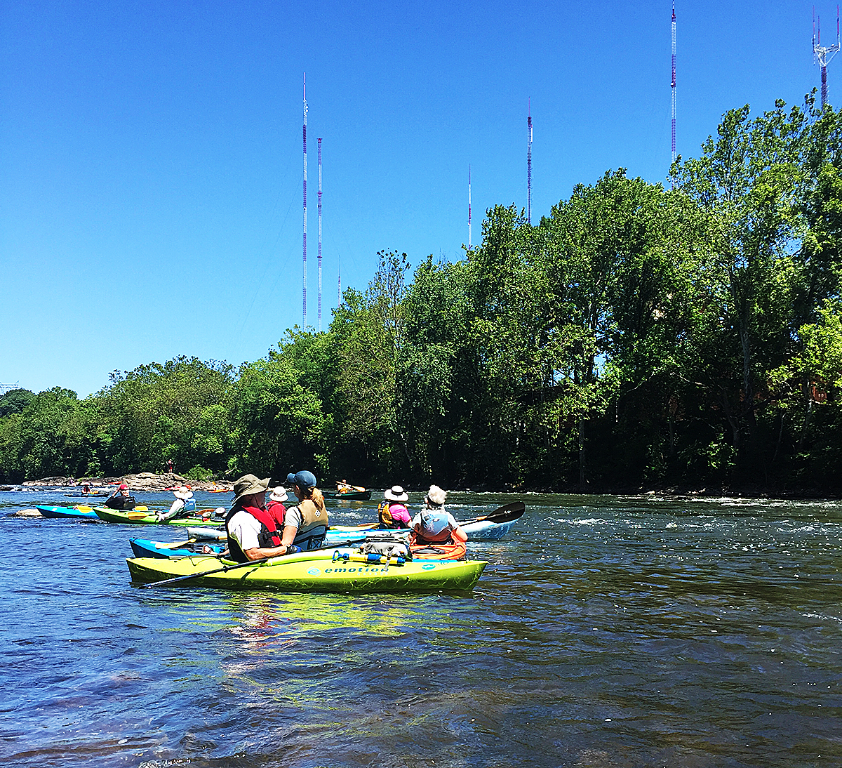 Schuylkill River boaters paddle the waters just below Flat Rock Dam. Issues with water quality in Rio de Janeiro, home of the 2016 Summer Olympics, have local water sport enthusiasts thinking about the value of clean water.