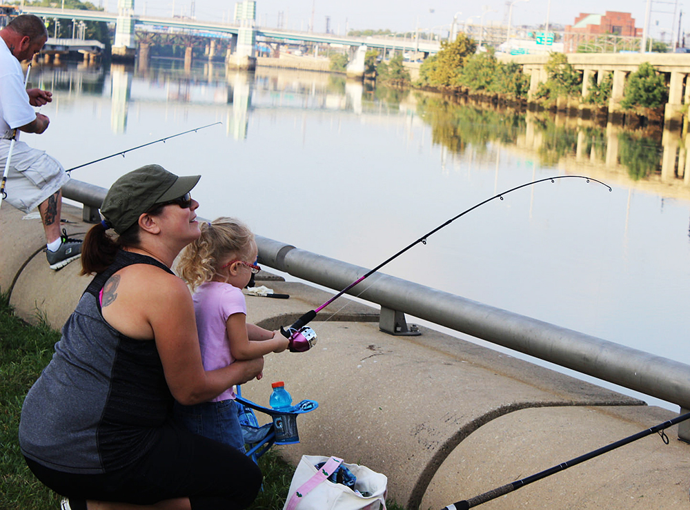 Contestants in the 2015 Philly Fun Fishing Fest soak in the river at Schuylkill Banks. What do you want for the future of the Schuylkill River?