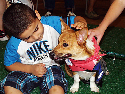 Above: Last year's Juniata Spokesdog, Gracie, after winning the crown. Credit: PDE and Philadelphia Water.