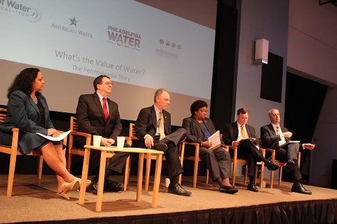 The panel at Value of Water Coalition's WHYY forum.