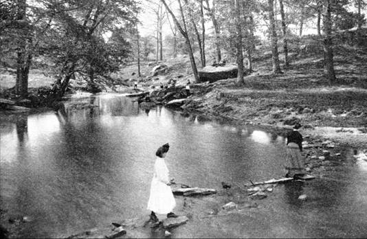 """The valley of Cobb's Creek, north of Market Street"" by H. Parker Rolfe. Source: City Parks Association 1905-06 Annual Report. Credit: Adam Levine and Phillyh2o.org"